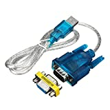 ILS - 80CM USB To RS-232 DB9 9-Pin Serial Cable Adapter Supports Win8
