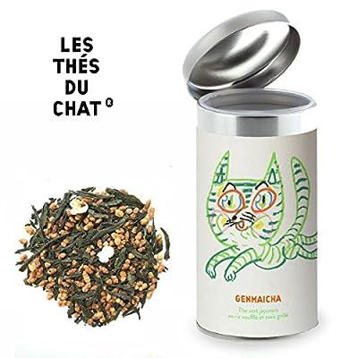 Genmaicha - Thé vert japonais au riz soufflé et maïs grillé. Les thés du chat. Pochette 100 grammes