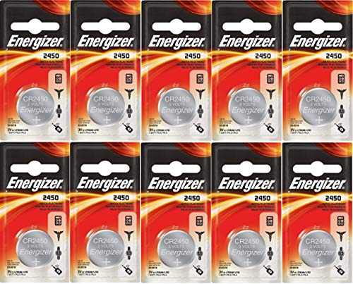 ENERGIZER Lot de 10 Blisters de 1 Pile Lithium CR 2450