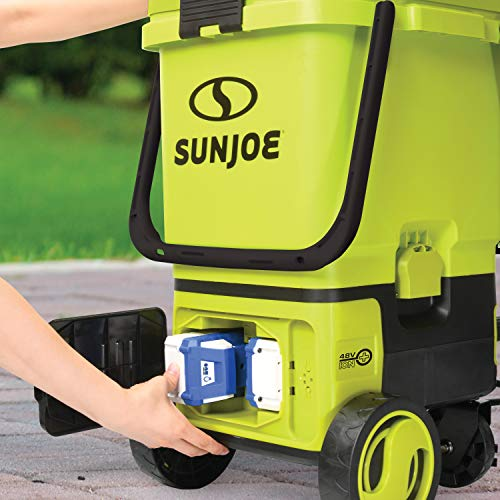 Sun Joe 24V-X2-PW1200 1196 Max PSI 1 GPM 48-Volt iON+ Cordless Portable Pressure Washer Kit w/ 2 x 4.0-Ah Batteries and Charger