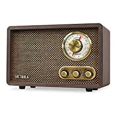 MORE THAN A RADIO- Listen to music through traditional AM/FM and through bluetooth wireless streaming with Victrola's Retro Radio (Walnut). With a classic vintage look and modern features, it elevates your home or office aesthetics perfectly GREAT QU...