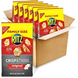 RITZ Crisp and Thins Original with Creamy Onion and Sea Salt, Family Size, 6 - 10 oz Bags