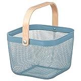 IKEA/イケア RISATORP :バスケット25x26x18 cm ブルー (704.805.34)
