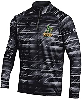 Under Armour Under Armour Oakland Athletics Black Tech Novelty Quarter-Zip Performance Pullover アウターウェア ジャケット/アウター 【並行輸入品】