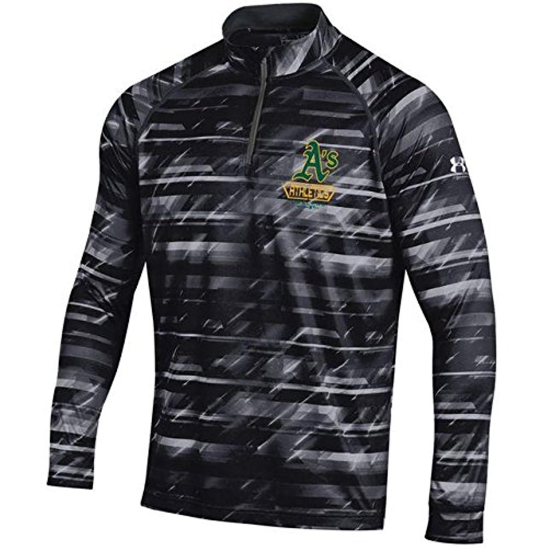Under Armour Under Armour Oakland Athletics Black Tech Novelty Quarter-Zip Performance Pullover アウターウェア ジャケット/アウター 【並行輸入品】