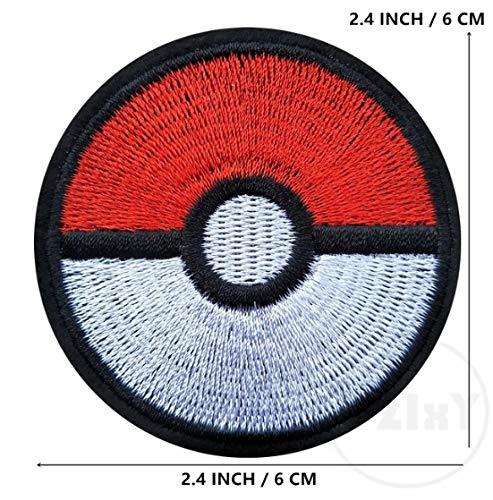 Pokeball Pokemon, toppa ricamata da stirare o cucire, adesivo, applique per costume o vestito divertente, Master Ball Pokémon Cosplay Pokeball