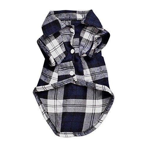 Bodhi2000® Camisa de cuadros para perro - abrigo de mascota - ropa...