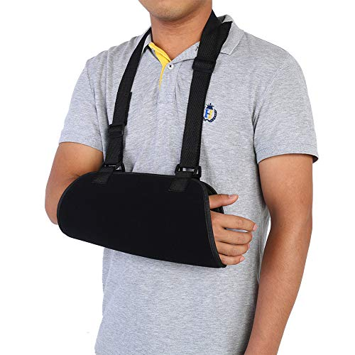 Inmovilizador de hombro con honda de brazo, codo de muñeca ajustable, antebrazo, hombro y soporte para manguito de los rotadores