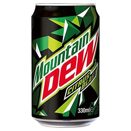 Mountain Dew Citrus Blast (330ml cans) 24-Pack