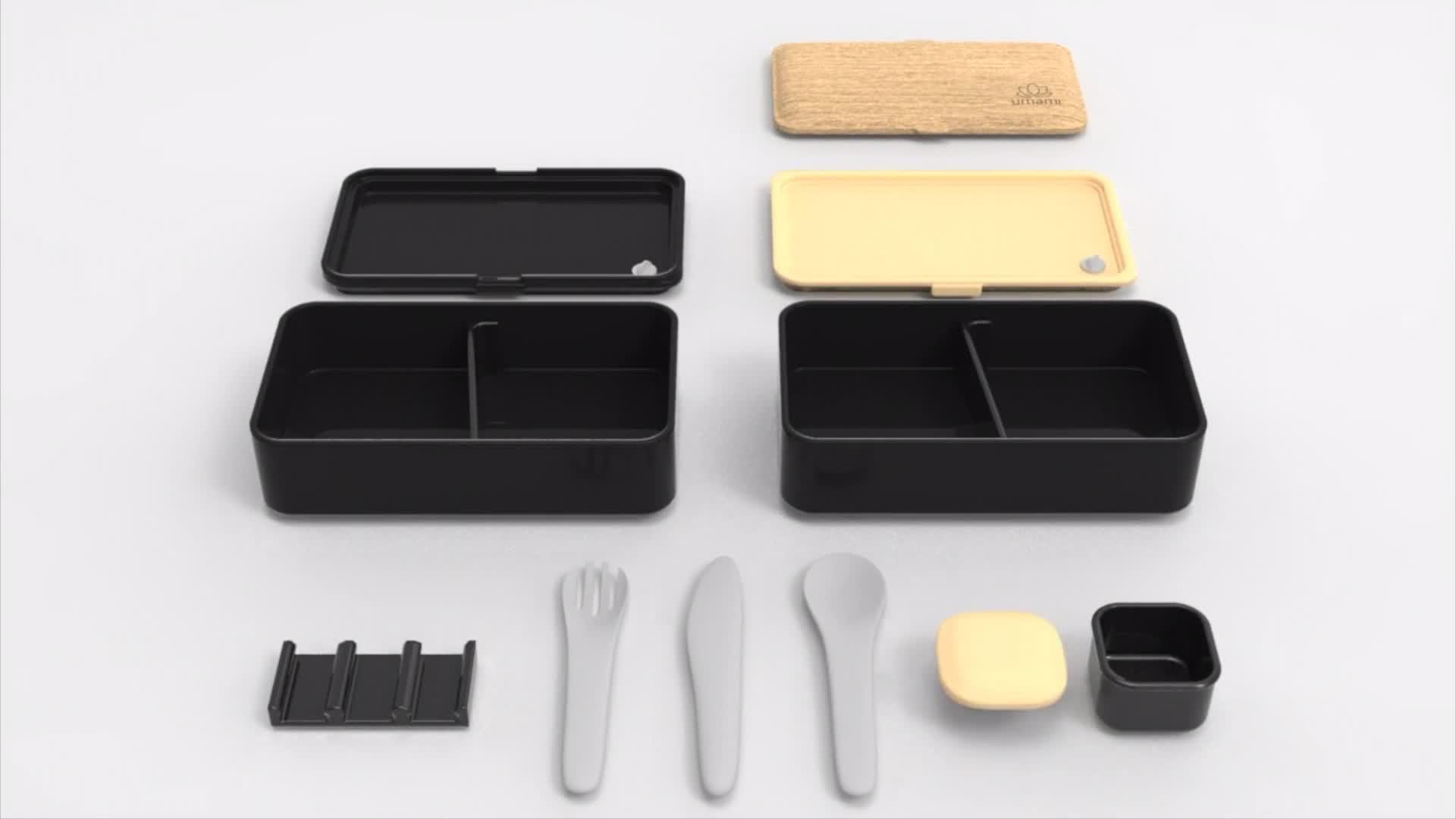 Beige//Rosa//Verde INSANY Fiambrera con 3 Compartimentos,Bento Lunch Box Contiene Cuchara y Tenedor Apto para Microondas//Lavavajillas//Refrigerador