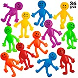 Stretchy Bendable Man (36 Pack) Assorted Fun Colors, A Sticky, Stretchable, Slimy, Gooey Texture, Toy For Stress And Anxiety Relief, Great Party Favor, Stocking Stuffer