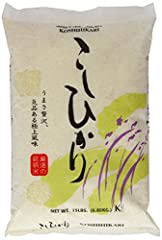 Japanese style sushi rice Package Weight: 6.94 kilograms Package Dimensions: 7.874 L x 40.386 H x 27.178 W (centimeters)