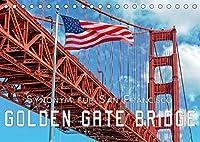 Golden Gate Bridge - Synonym fuer San Francisco (Tischkalender 2022 DIN A5 quer): Die Golden Gate Bridge in Kalifornien, die Bruecke ueber das Goldene Tor. (Monatskalender, 14 Seiten )