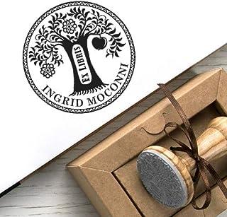 Ex libris Timbri Personalizzati, Timbro Libro Albero della Conoscenza, Ex libris Personalizzabile, Albero di Mele Paradiso...