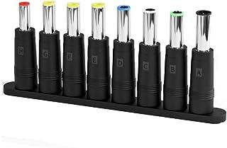 YOUBO 8 En 1 Adaptador de Fuente de alimentación de CC para Ordenador portátil Universal Conector de Cargador de CA CC Conectores Adaptador de Corriente para Ordenador portátil Cabeza de conversión