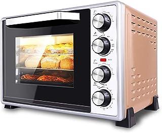 L.TSA Kitchen Mini 40L Horno eléctrico con Control de Temperatura de precisión 100-250 ° C y 0-60min Temporización 1500W Aire Caliente multifunción de Tres Capas con Horno de iluminación