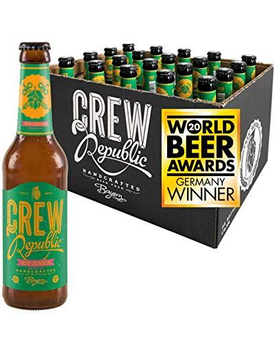CREW Republic® Craft Bier Hop Junkie, Session IPA | World Beer Awards Gewinner Session IPA 2020 | Bierspezialität aus Bayern nach deutschem Reinheitsgebot (20 x 0,33 l)