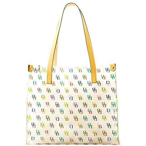 New Dooney & Bourke DB Logo Clear Tote Hand Bag Purse IT Medium Shopper Multi