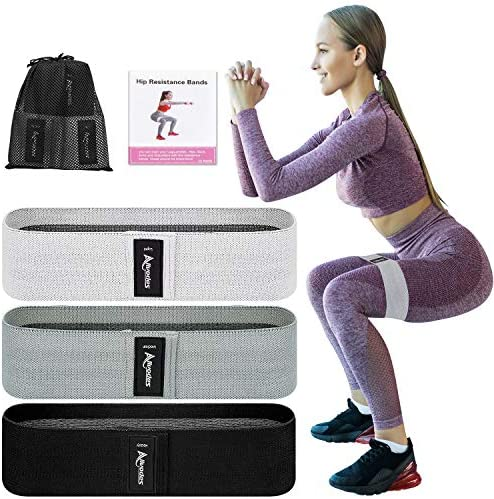 Allvodes Booty Bands Fabric Resistance Bands for Legs and Butt Non Slip Exercise Bands for Women product image