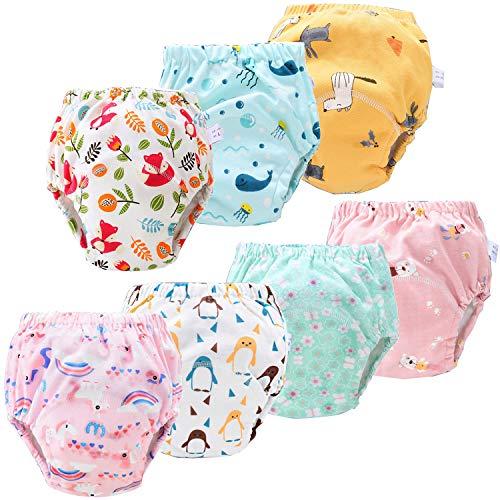 JackLoveBriefs Baby Kleinkind Töpfchen Unterwäsche Töpfchen Trainingshose (1 bis 5 Jahre, 7 Stück