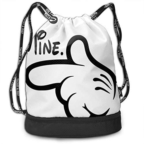 Bolsas de Gimnasia, Drawstring Backpack He is Mine Print Travel Sport Yoga Gym Sack Bag Outdoor Bundle Backpack Laptop Bag Beach Rucksack for Men/Women and Kids