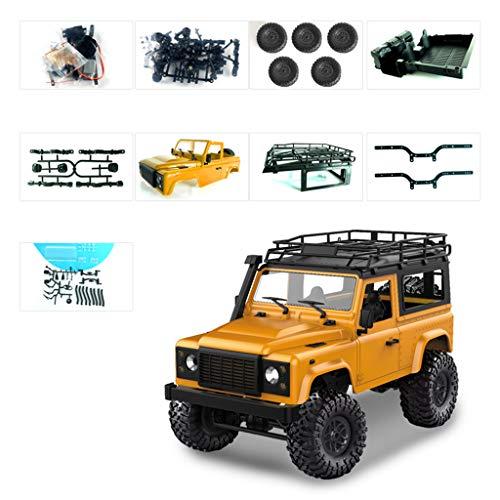 1/12 RC Rock Crawler D90 2.4 G 4 WD auto control remoto camión juguetes sin montar Kit Defender amarillo