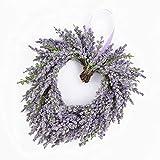 artplants.de Cœur de Lavande décoratif, Violet, Ø 20cm - Fleur Artificielle Lavande - Couronne décorative