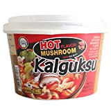 Surasang Spicy Mushroom Kalguksu, Korean Knife Cut Noodle with Mushroom, 7.86 Ounce, Pack of 6