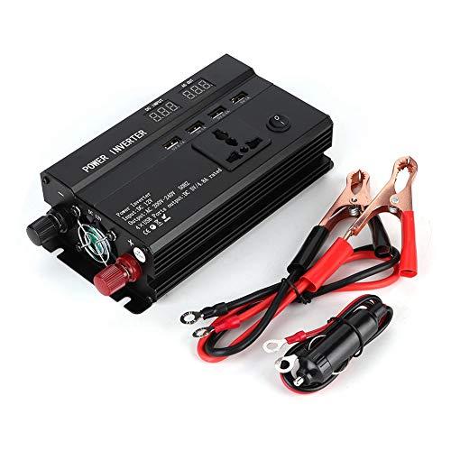Inversor de Corriente para Coche Aramox, convertidor inversor de Corriente para Coche de 3000 W 12 V a 220 V con Pantalla LCD, Puerto USB, Puertos para Encendedor