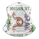 Not Applicable Headwear Face Shield,Dinosaurs Set Logo Comfortable For Patry Bandana Neck Gaiters,25x30cm