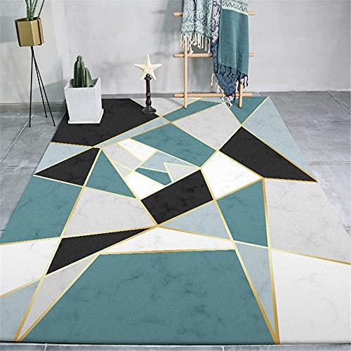 Alfombras alfombras a Medida Patrón Irregular geométrico de Textura de mármol Gris Negro Azul Alfombra niños habitacion Alfombra Geometrica 40*60cm