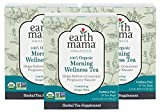 Earth Mama Organic Morning Wellness Tea Bags for Occasional Morning Sickness, 16-Count (3-Pack)