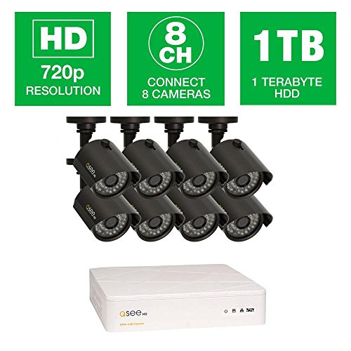 Q-See QTH8-8Z3-1 8 Channel, 8 High Definition 720p Cameras, 1TB HDD, Ja