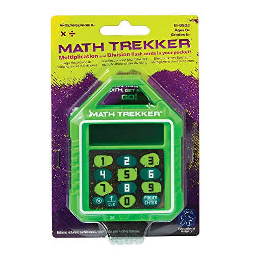 Educational Insights Math Trekker Multiplication & Division Electronic Math Flash Card, Ages 8+