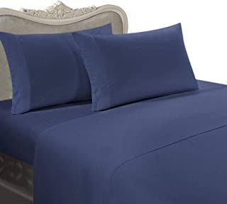 3pc 800 Thread Count Egyptian Cotton Down Alternative Comforter Set, Twin XL, Navy