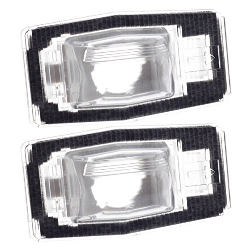 HERCOO License Plate Lights Lamp Lens Left Right Hand Housing Compatible with 1999-2005 Mazda Miata MPV Protégé Tribute Pickup Truck Rear Step Bumper, Pack of 2