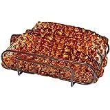 Luluhome Grill Rib Rack, Nonstick Rib Holder for Smoker Stainless Steel Roasting Rack
