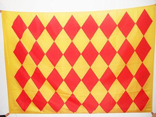 AZ FLAG Bandera del Condado DE ANGOUMOIS 90x60cm para Palo - Bandera COMTÉ D'ANGOUMOIS - Francia 60 x 90 cm
