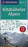 KOMPASS Wanderkarte Kitzbüheler Alpen: 5in1 Wanderkarte 1:50000 mit Aktiv Guide, Detailkarten und Panorama inklusive Karte zur offline Verwendung in ... Skitouren. (KOMPASS-Wanderkarten, Band 29)