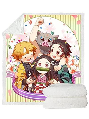 Anime 3D Print Harajuku Thin Quiltadult Manta de Cama Colcha Silla Ropa de Cama Hogar Felpa Suave Edredón Edredones Finos Edredón Lavable para el hogar Anime (59.05X86.61in)