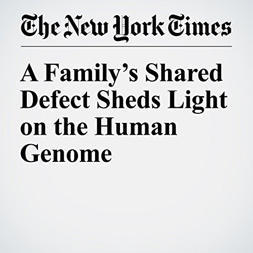 A Family's Shared Defect Sheds Light on the Human Genome copertina