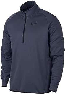 Nike Mens DRI-FIT Thermal Top Long Sleeve 1/4 Zip Pullover Thunder Blue/Black Size Medium