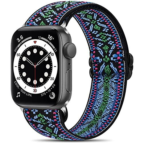 コンパチブル Apple Watch バンド ナイロン弾性交換用ストレッチバンド