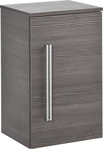 FACKELMANN Unterschrank Lugano/mit Soft-Close-System/Maße (B x H x T): ca. 35 x 59 x 32 cm/hochwertiger Schrank fürs Bad/Türanschlag rechts/Korpus: Grau/Front: Grau/Breite 35 cm