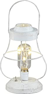 アビテ(Habiter) アルカイック ライト ワイドランタン ホワイト 13.5×13.5×22.5cm MXL-003-WH