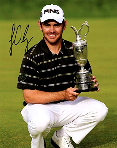 Louis Oosthuizen Hand SIGNED AUTOGRAPHED 2010 British Open Championship Trophy 8x10 PHOTO w/COA South African Golfer