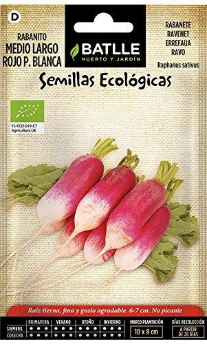 Semillas Ecológicas Hortícolas - Rabanito Medio Largo Rojo