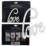 Annastore Holzschrift 3D Love weiß 10 cm Schriftzug Buchstaben Holzbuchstaben Holzschriftzug