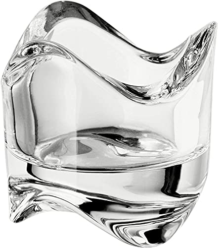 IKEA VASNAS Candle Holder Wax, Clear Glass Holder 6cm x 6cm -1 pc