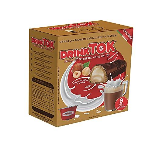 DrinkTok Snack Wafer Nocciolato 24 Capsule compatibili Dolce Gusto (3 Confezioni)
